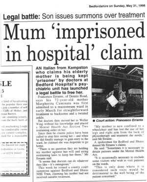 Bedfordshire on Sunday Newspaper - May 1998